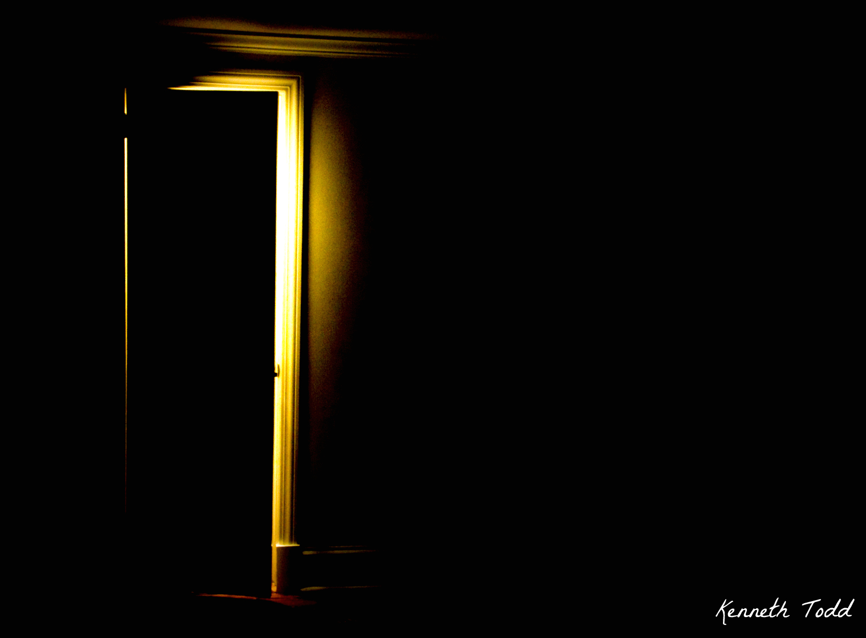 Light behind the door april 23 project 365 by kenneth todd for Door with light